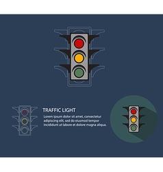 Traffic lightabstract traffic light flat style vector