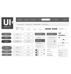 Ui kit template vector