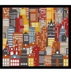 Urban houses vector