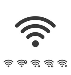 wireless and wifi network icons vector image