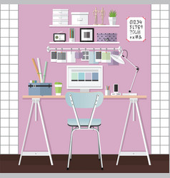Working room design vector