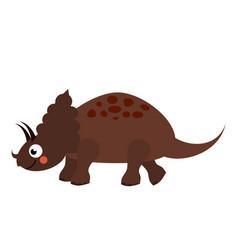 cute dinosaur cartoon dino character triceratops vector image