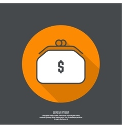 Female purse for money vector image vector image