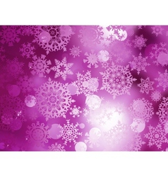 Pink Christmas background with snowflakes EPS 10 vector image