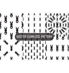 Set of 6 seamless pattern easter greeting with vector