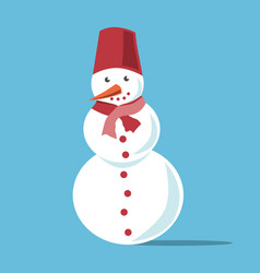 white snowman with carrot vector image