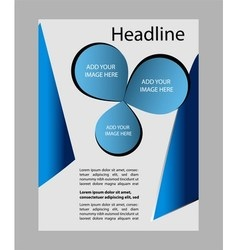 Abstract blue Flyer or Cover Design vector image vector image