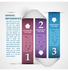 One two three - paper progress steps for vector image