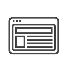 site thin line icon vector image