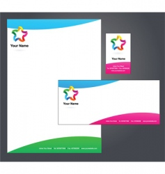 stationery template with star logo vector image