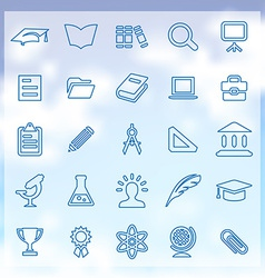 25 education icons vector image vector image