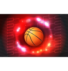 Basketball Tournament Bracket and Ball vector image vector image