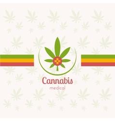 Cannabis medical vector