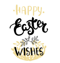 easter greeting card - happy easter wishes vector image vector image