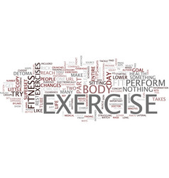 five ways to fit fitness into your life text vector image vector image