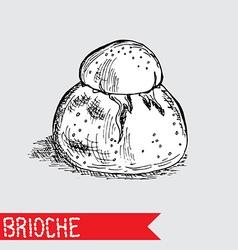 hand drawn brioche vector image vector image