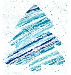 abstract Christmas tree chalk drawing vector image vector image