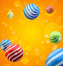 abstract group of spheres vector image