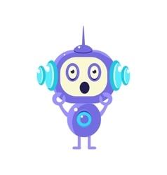 Shocked little robot vector