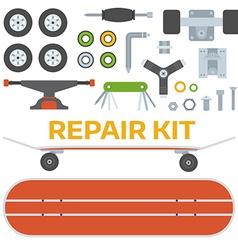 Skateboarding Repairs Kit vector image vector image