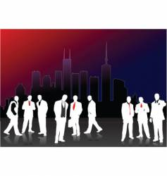 white men silhouettes vector image vector image