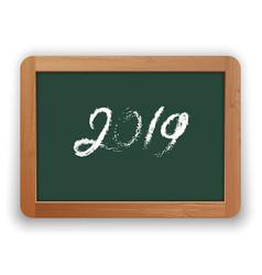 2019 chalk calligraphy on green chalkboard vector