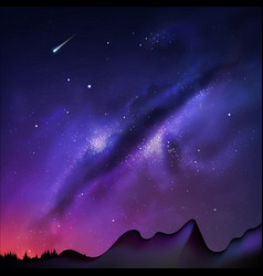 A milky way night sky vector