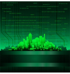 Abstract modern technological city background vector