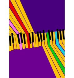 abstract music background rainbow piano keys on vector image