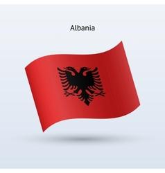 Albania flag waving form vector