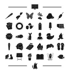 animal breed paintball and other web icon in vector image