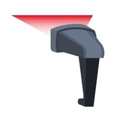 Bar code reader device icon vector image