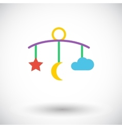 Bed carousel icon vector