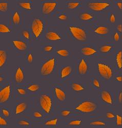 beech leaf seamless pattern vector image