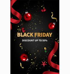 Black friday sale banner for social promotion vector
