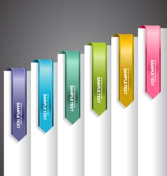 Bookmark Labels Arrow vector image vector image