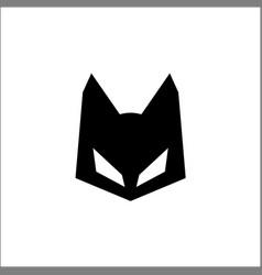 cat head icon logo template vector image