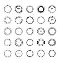 Circle decorative frames or borders vector