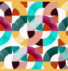 Colorful rings on grey background modern vector