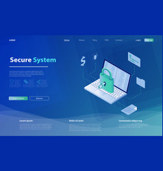 concept security data protection vector image