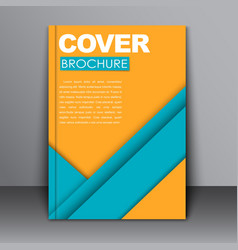 Cover design in the material style vector image