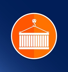 Crane container icon button logo symbol concept vector image