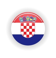 Croatia icon circle vector