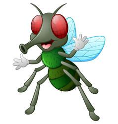 Cute fly animal waving hand vector