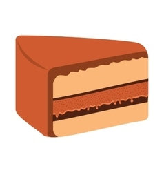 delicious sweet cake isolated icon vector image