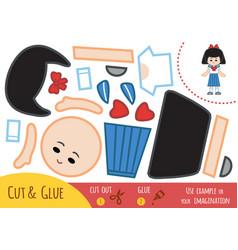 Education paper game for children japanese vector