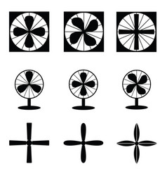 Fan icons vector