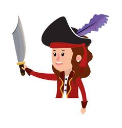 girl halloween cartoon vector image