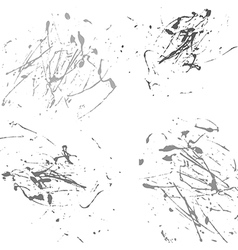 Gray splatter paint abstract on white background vector