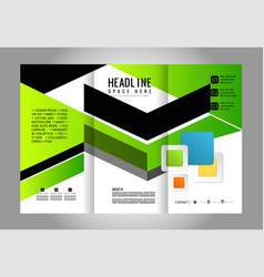 Green advertisement pamphlet model tri-fold vector